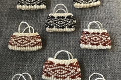Taniko brooch's with natural dyes