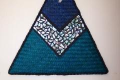 Harakeke and paua triangle