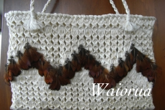 Muka kete with pheasant feathers